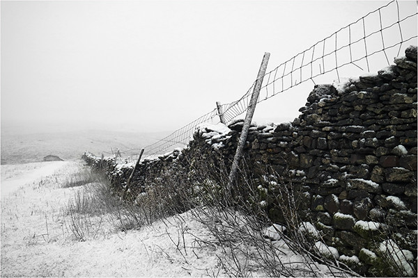 Snow Stone Wall - Yorkshire