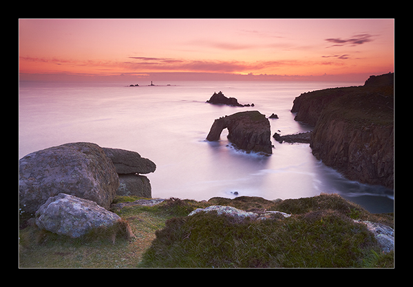 Lands End at Dusk - Cornwall