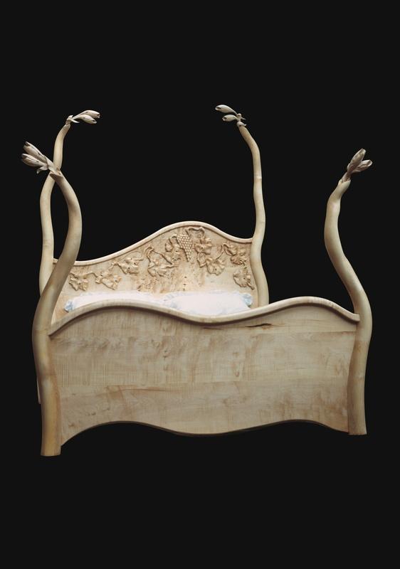 Surreal wooden beds sculptural furniture