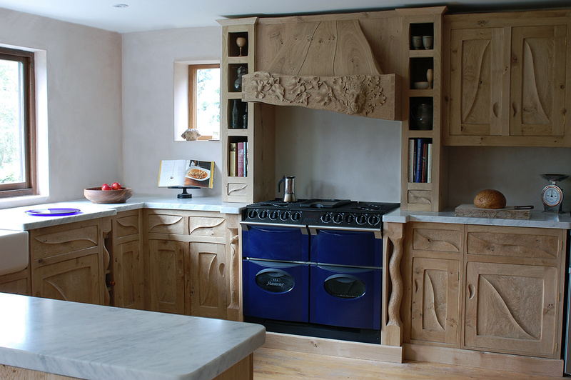 Handmade Character Kitchens, Bespoke Character Kitchens, Highly personal Kitchens, Free Standing Character Kitchens, Naturalistic Kitchens