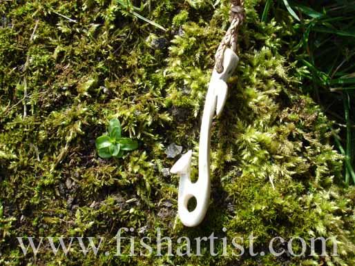 Fish Hook Bone Carving - Fishing Bone Carvings.