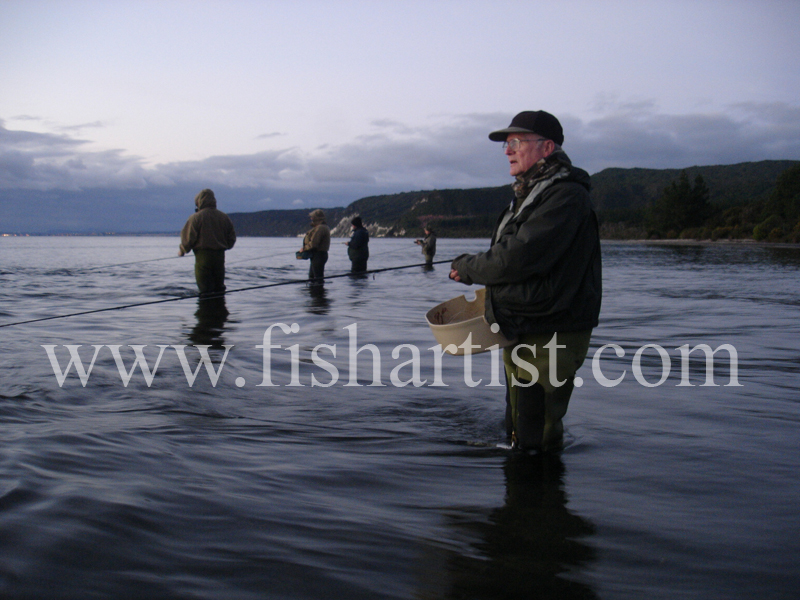 Old Taupo Fisherman. - Trout Fishing - Taupo New Zealand.