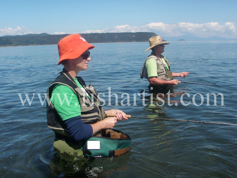 Dave and Lorraine. - Fishermen of Taupo.