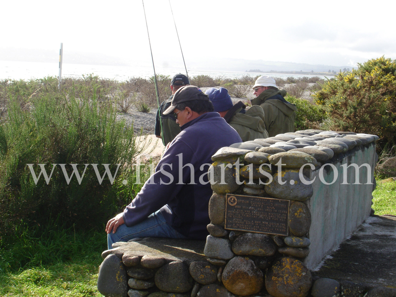 Taupo Fishermen -Tom & Bill. - Trout Fishing - Taupo New Zealand.