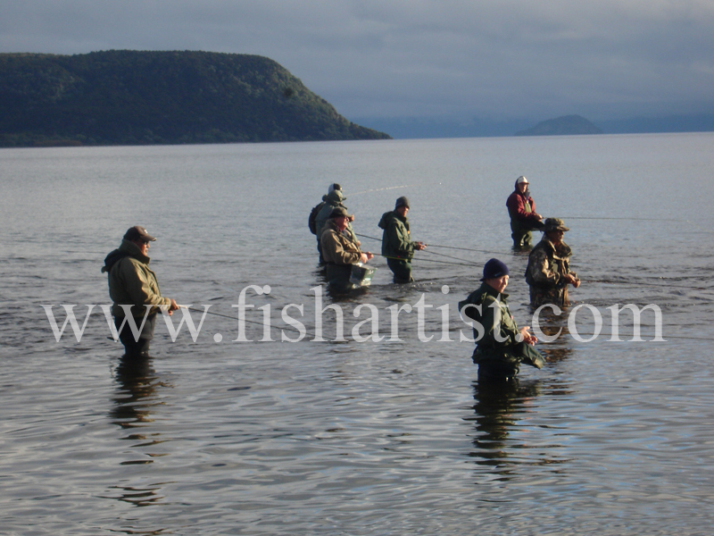 Late Summer - Waitahanui Rip. - Trout Fishing - Taupo New Zealand.
