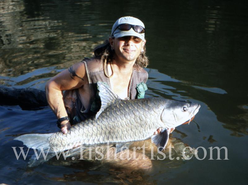 Happy Mahseer Fisherman. - Mahseer Fishing India.