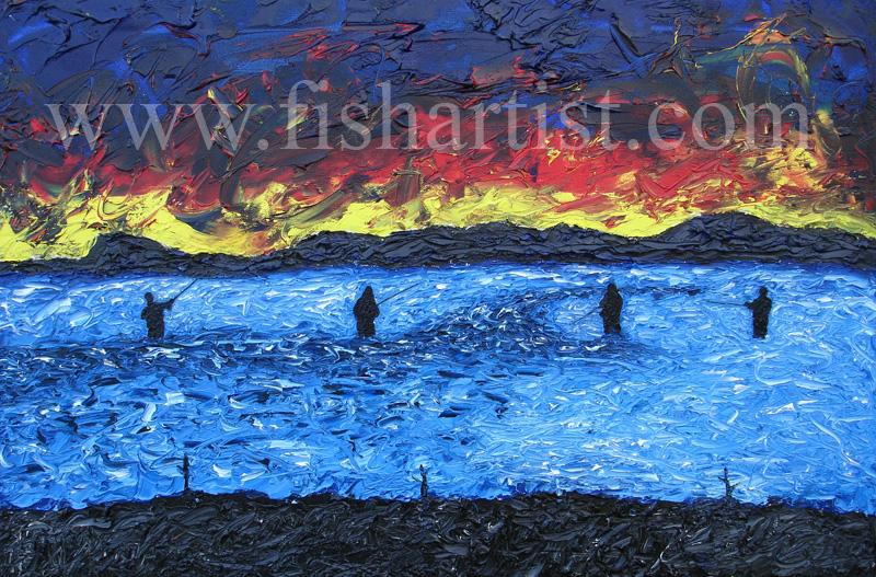 Change of Light - Waitahanui. - Fish Art for Fishermen.