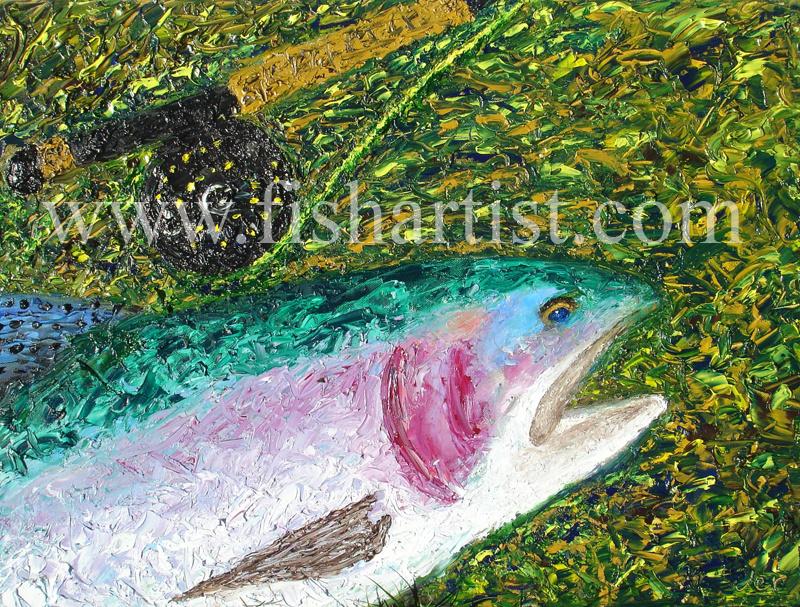 Tongariro Trout - Taupo. - Fish Art for Fishermen.