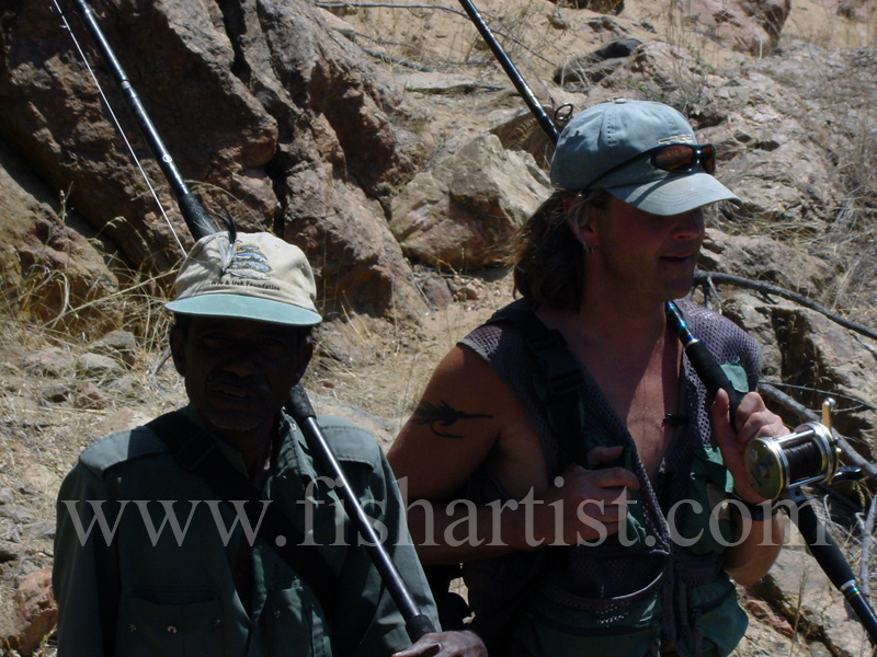 Subhan & Me. - Mahseer Fishing India.