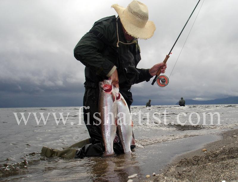 A Good Waitahanui Brace. - Trout Fishing - Taupo New Zealand.