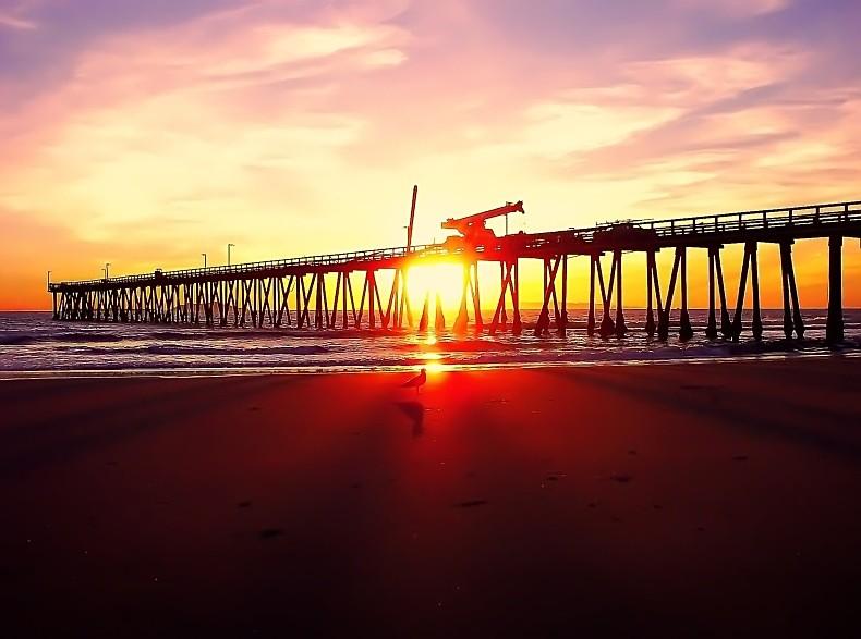 sunset over oxnard - Seascape