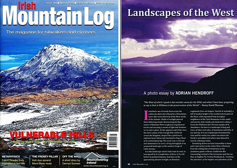 'Landscapes of the West' - Irish Mountain Log - No.104 Winter 2012 - In the media