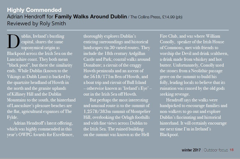 Family Walks Around Dublin review, OWPG Outdoor Focus Winter 2017 - In the media