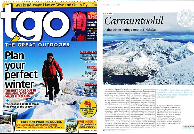 'Winter's Magic' - TGO - January 2012 - In the media
