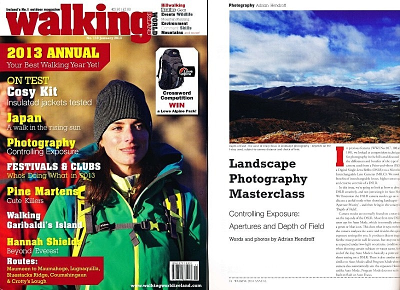 'Landscape Photography Masterclass' - Walking World Ireland No.110 - In the media