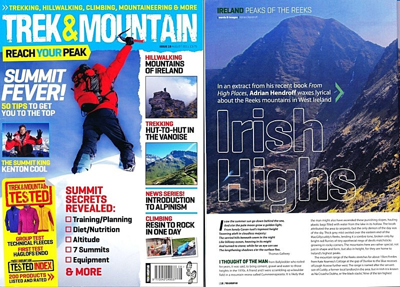 'Irish Highs' - Trek & Mountain - August 2011 - In the media