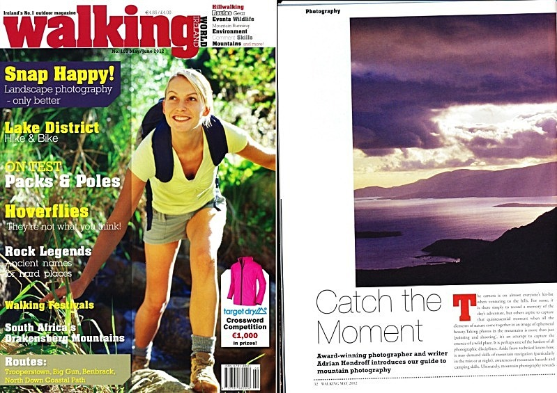 'Catch the Moment' - Walking World Ireland No. 107 - In the media