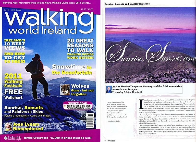 'Sunrise, Sunsets and Paintbrush Skies' - Walking World Ireland No.100 - In the media