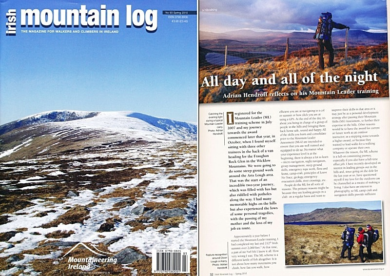 'All day and all of the night'- Irish Mountain Log - No.93 Spring 2010 - In the media
