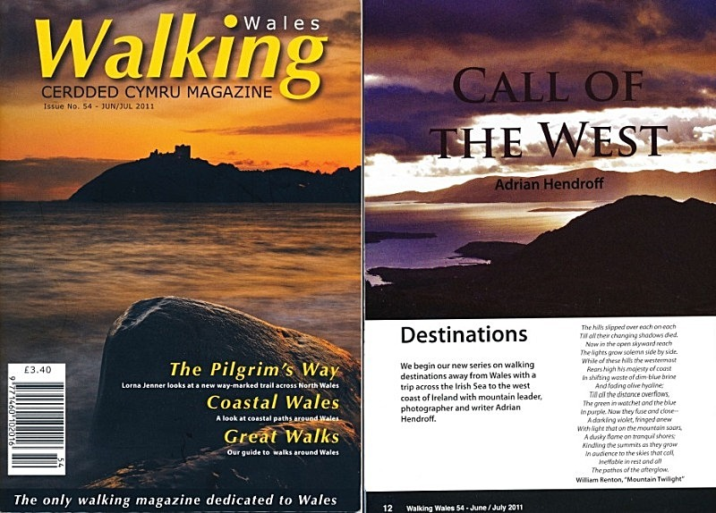 'Call of the West' - Walking Wales Magazine - Jun/Jul 2011 - In the media