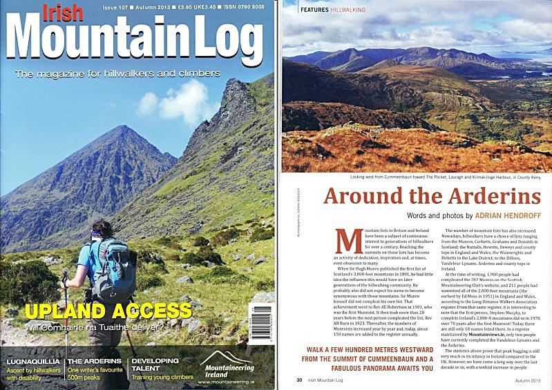 'Around the Arderins' - Irish Mountain Log - No.107 Autumn 2013 - In the media