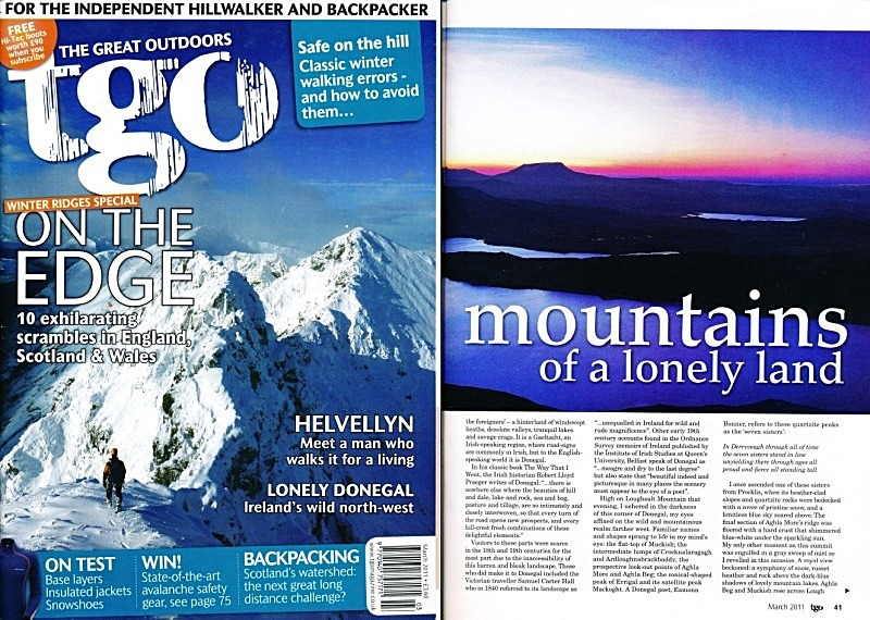'Mountains of a lonely land' - TGO - March 2011 - In the media