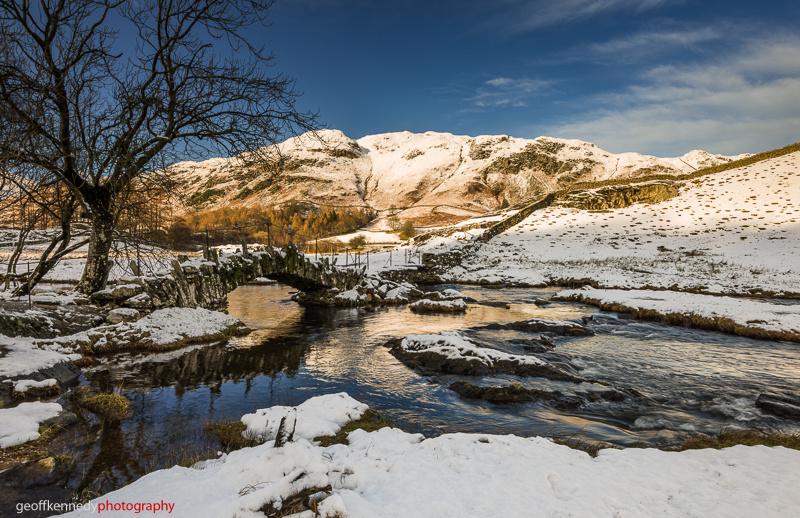 Great Langdale Snow. - Lake District
