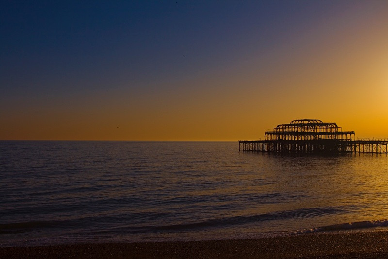 pier sunset brighton