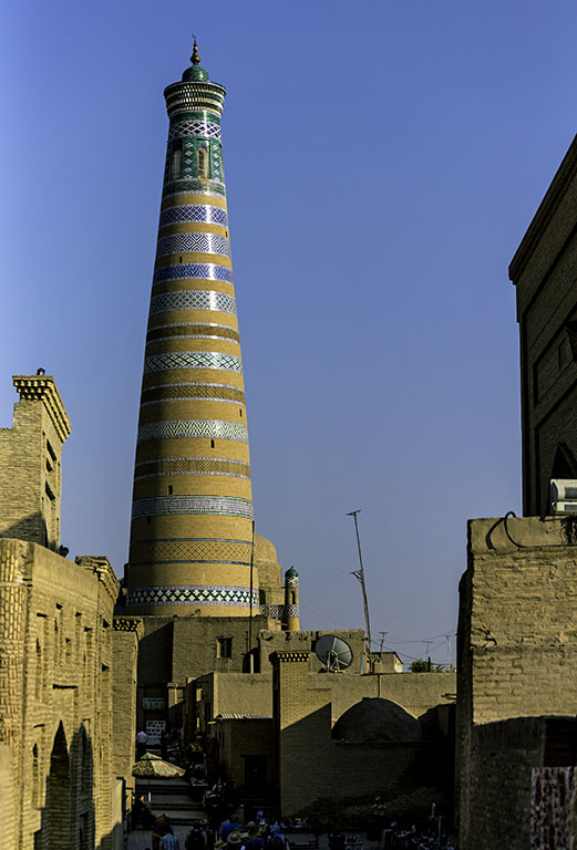 A Minar in Khiva fortress - UZBEKISTAN Silk Routes