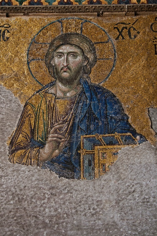 The Christ Mosaic, Aya Sophia: 6th Century Byzantine Art - TRAVEL PHOTOGRAPHY: TURKEY