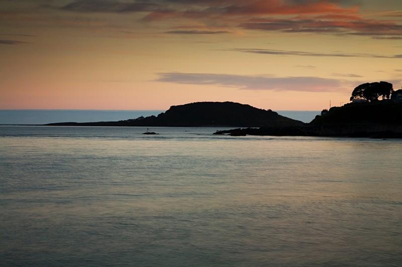 Looe Island at dusk - CORNWALL