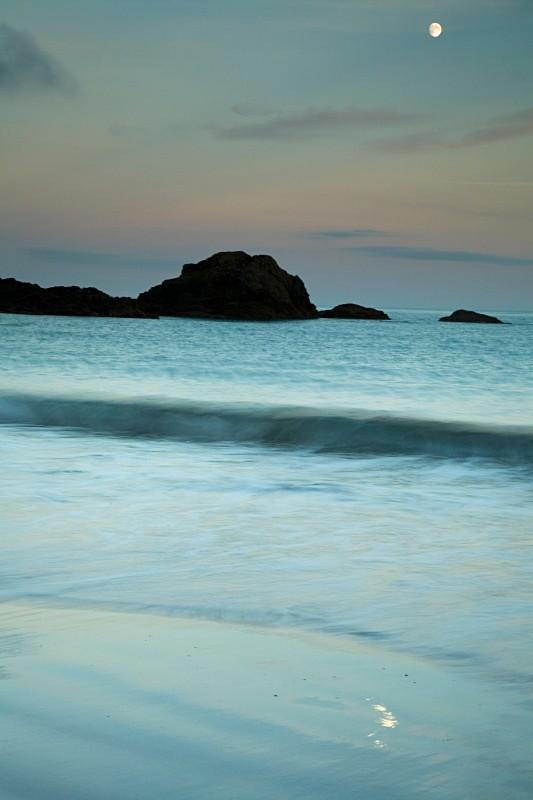 Moon Rise, Sun set, Looe, Cornwall - CORNWALL