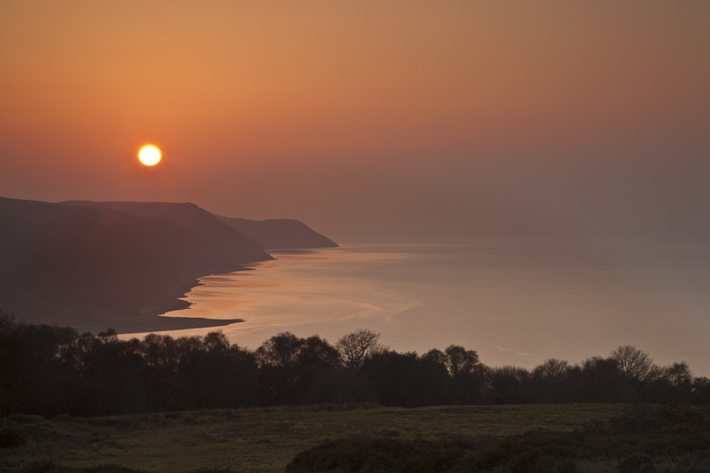 Porlock Bay: Spring sunset (l) - The West of England