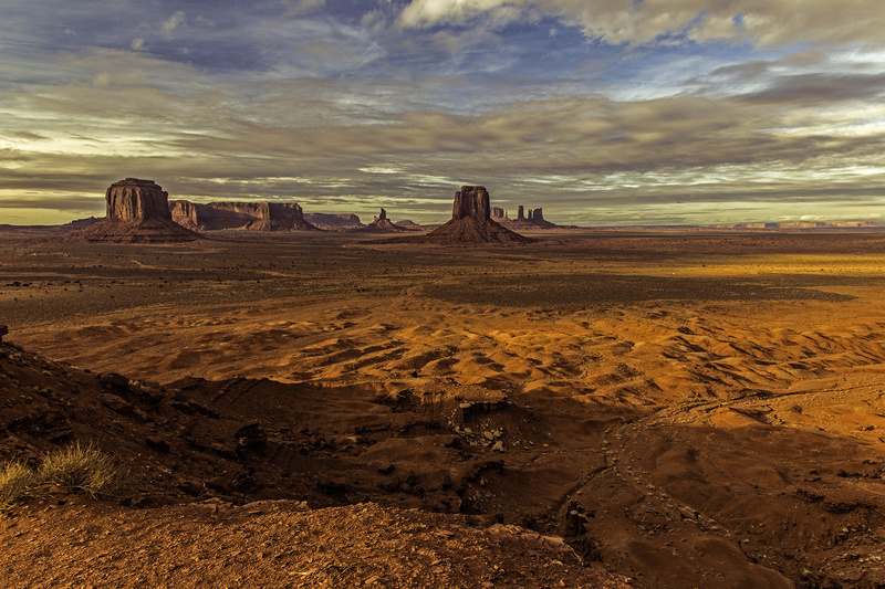 Winter Sunset from Angel Point - Monument Valley