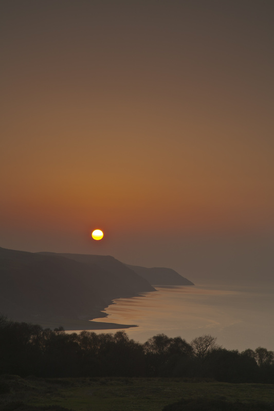 Porlock Bay at dusk:Portrait - The West of England