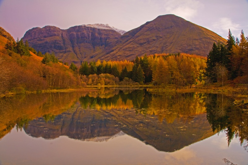 Autumn light, calm reflections - Scotland