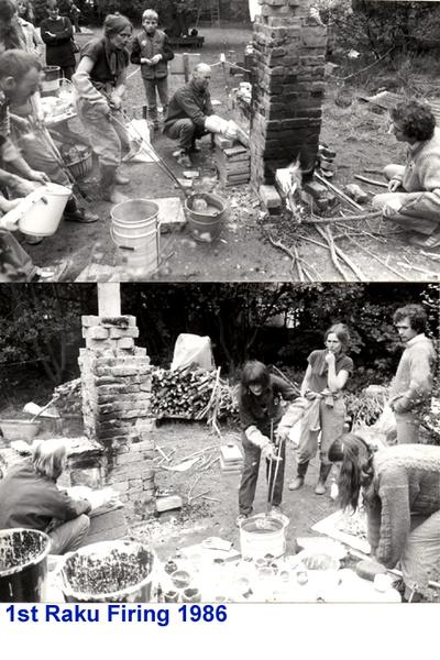 Raku Firing 1986 - Archive Images