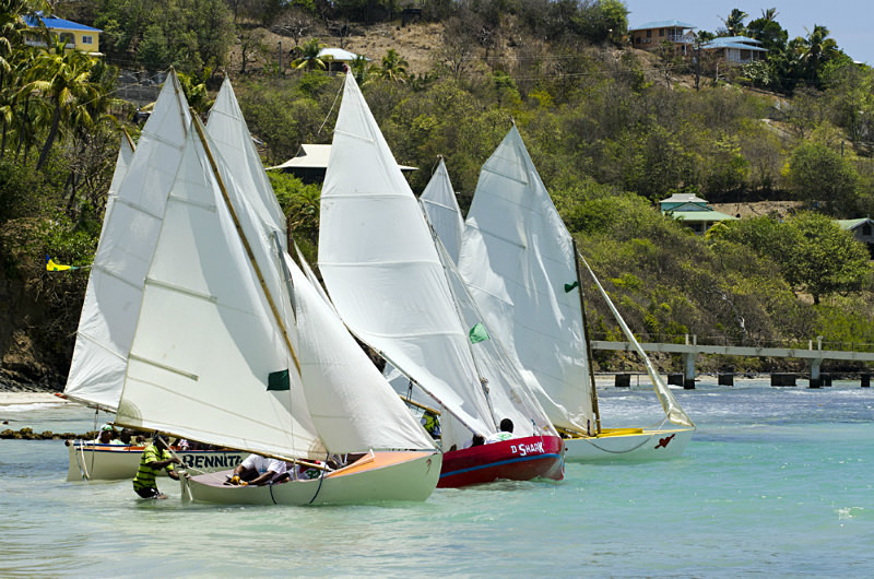 Bequia Easter Regatta_Heineken Challenge - Race II - Local Fishing Boa - Sunday - Heineken Challenge - Race 2 - Local Fishing Boats