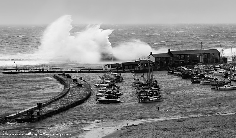 Storms over the Cobb wall B/W - Black and White