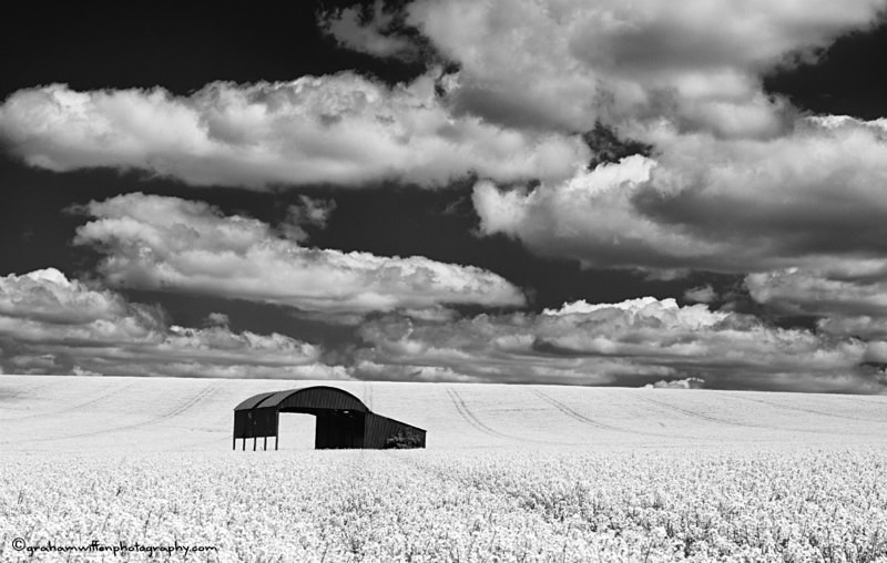 Cranborne Chase Barn B/W - Black and White