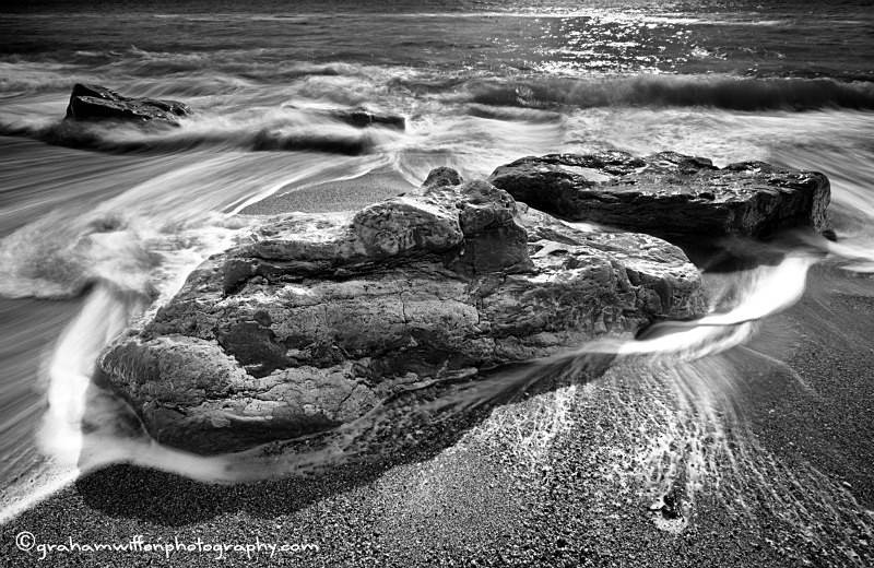 Burton Rocks B?W - Black and White