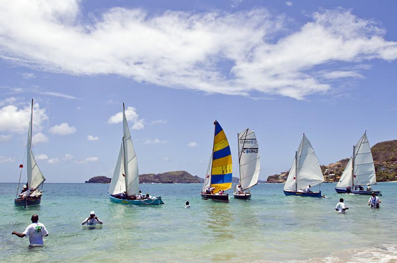 Bequia Easter Regatta_Heineken Challenge - Race II - Local Fishing Boa - Sunday - Heineken Challenge - Race 2 - Local Fishing Boats