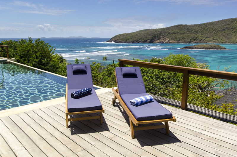 Crescent Beach Villa, Bequia, Lounging By The Pool