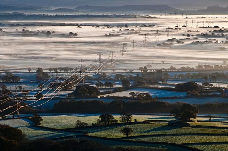 Misty morning across the Marshwood Vale