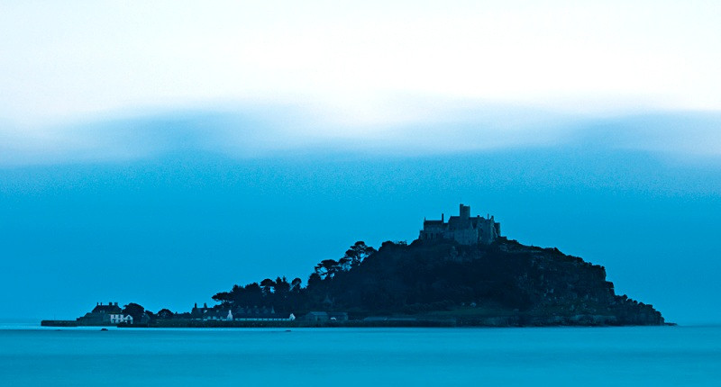 Dusk over St Michael's Mount, Cornwall