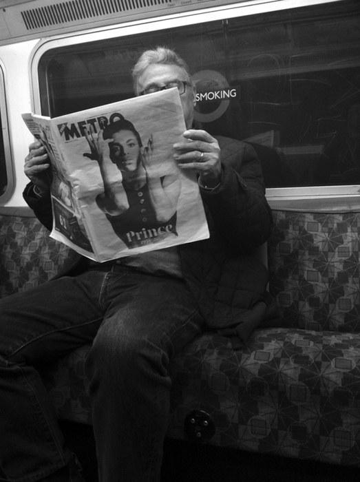 Prince The Artist London Underground Street Photography