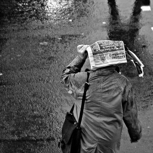 Evening Standard Comes in Handy Sometimes - Rain n' Brollies