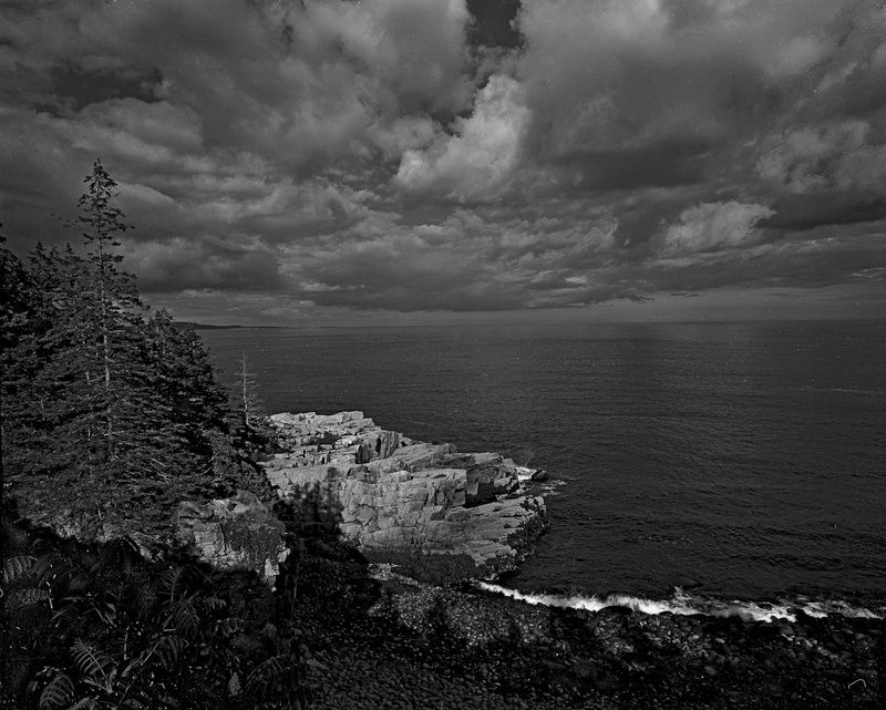 OTTER CLIFFS ACADIA N.P. - BLACK AND WHITE LANDSCAPES