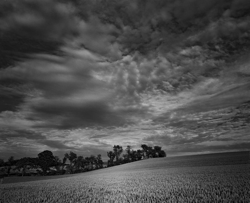 CLOUDS AND WHEAT - BLACK AND WHITE LANDSCAPES