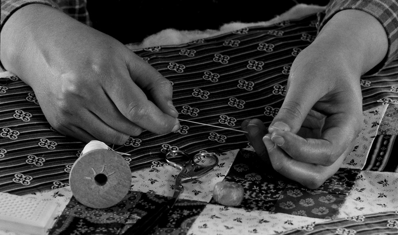 YOUNG QUILTERS HANDS - AT WORK